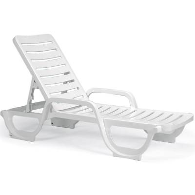 Grosfillex Patio Furniture - Resin Chaises - Bahia Contract Stacking Adjustable Chaise Lounge - Pack of 2