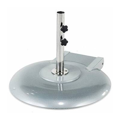 Umbrellas & Bases - 150 Lb. Round Aluminum Freestanding Base with Wheels