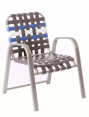 Welded Contract Bonaire Stacking Cross Strap Chair - Image 2