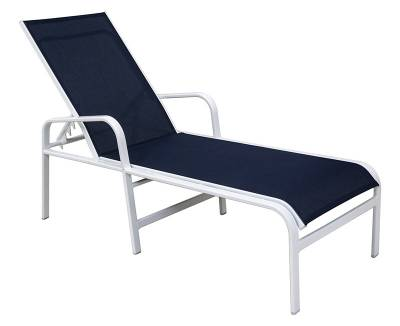 Poolside Furniture - Patio Sling Furniture - Generations Sling Stacking Chaise Lounge