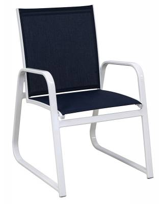 Poolside Furniture - Patio Sling Furniture - Generations Low Back Stacking Sled Sling Chair