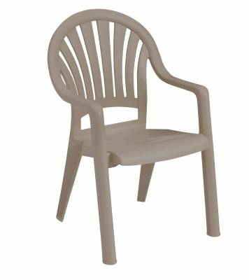 Pacific Fanback Stacking Armchair - Image 4