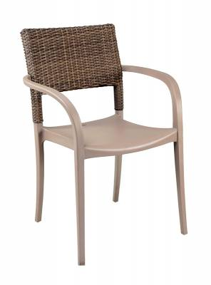 Java Wicker Stacking Armchair - Image 3