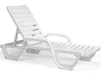 Grosfillex Patio Furniture - Resin Chaises - Bahia Contract Stacking Adjustable Chaise Lounge - Pack of 18