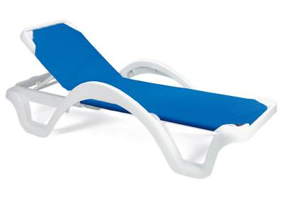 Catalina Adjustable Sling Stacking Chaise Lounge - Image 1