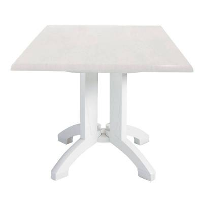 "Grosfillex Patio Furniture - Resin Tables - 32"" Square Atlanta Decor Table - Five Styles Available"
