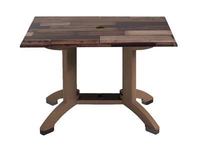 "Grosfillex Patio Furniture - Resin Tables - 48"" x 32"" Atlanta Decor Rectangular Table - Styles Colors Available"
