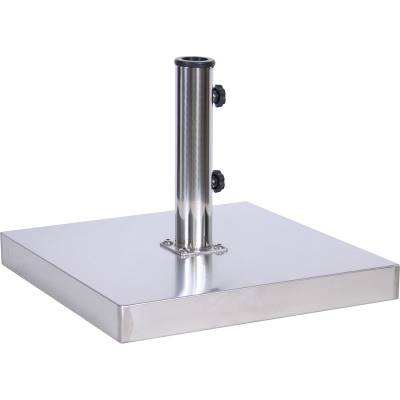 Umbrellas & Bases - Umbrella Bases - 50 Lb. Square Stainless Steel Freestanding Base