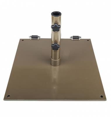 75 Lb. Square Steel Freestanding Base with Wheels - Image 4