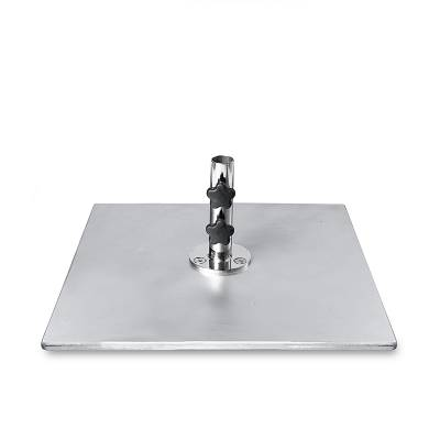 70 and 100 Lb. Square Galvanized Steel Umbrella Base - Image 1