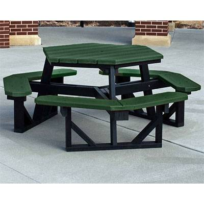 Hex Recycled Plastic Picnic Table, Portable - Image 2