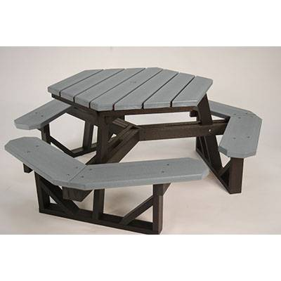 Hex Recycled Plastic Picnic Table, Portable - Image 3