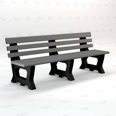 4' and 6' Brooklyn Recycled Plastic Bench - Portable - Image 3