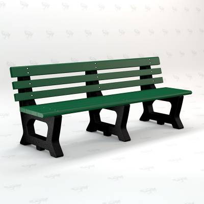 4' and 6' Brooklyn Recycled Plastic Bench - Portable - Image 4