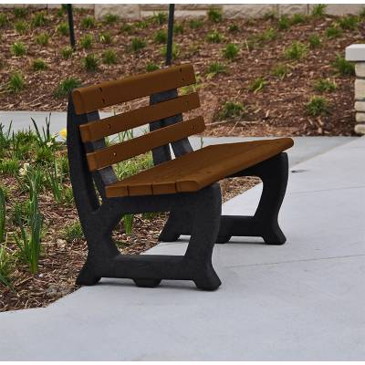 4' and 6' Brooklyn Recycled Plastic Bench - Portable - Image 5
