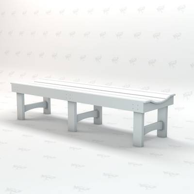 4', 6' and 8' Garden Recycled Plastic Bench - Portable - Image 3