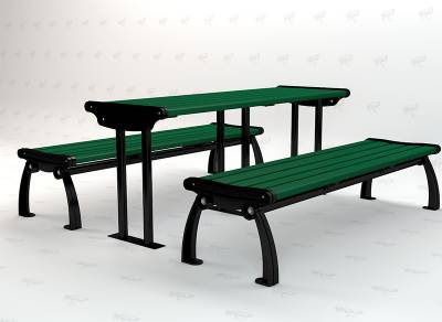 6' Recycled Plastic Heritage Picnic Table, Surface Mount - Image 3