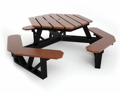 Hex Recycled Plastic Picnic Table, Portable - Image 4