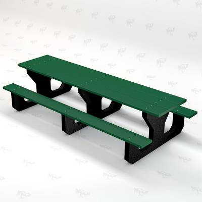 Toddler 6' Recycled Plastic Park Place Picnic Table, Portable - Image 3