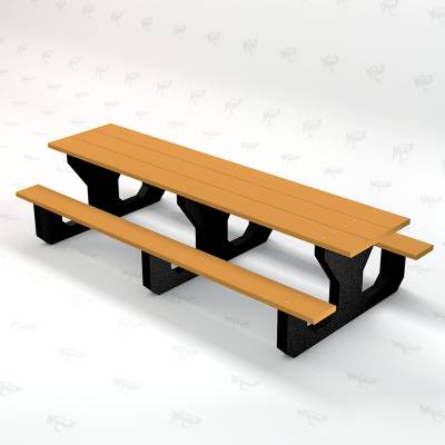 Toddler 6' Recycled Plastic Park Place Picnic Table, Portable - Image 4