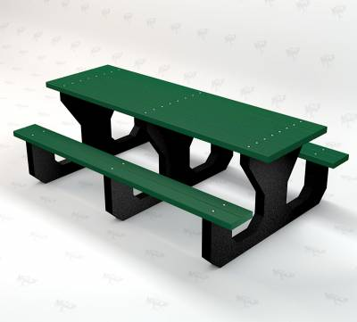 Youth 6' Recycled Plastic Park Place Picnic Table, Portable - Quick Ship - Image 4