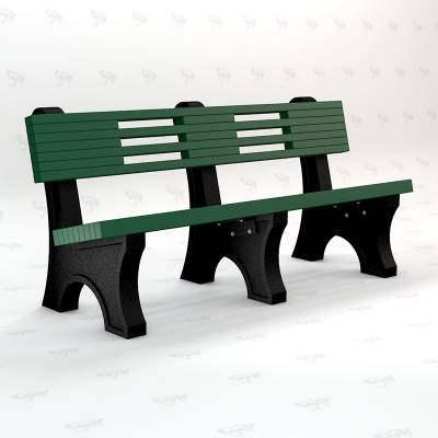 4', 6' and 8' Ariel Recycled Plastic Bench - Portable - Image 3