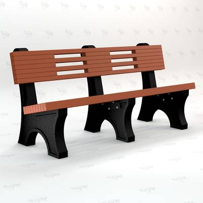 4', 6' and 8' Ariel Recycled Plastic Bench - Portable - Image 4