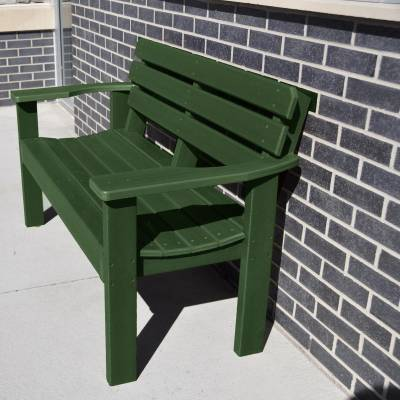 4' and 6' Elizabeth Recycled Plastic Bench - Portable - Image 2