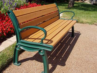 4', 5', 6' and 8' Heritage Recycled Plastic Bench - Portable/Surface Mount - Image 5