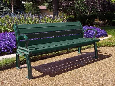 4', 5', 6' and 8' Heritage Recycled Plastic Bench - Portable/Surface Mount - Image 6