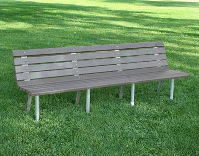 4', 6' and 8' Saint Pete Recycled Plastic Bench – Portable/Surface Mount  - Image 3