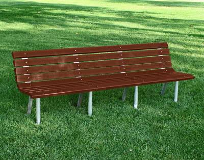 4', 6' and 8' Saint Pete Recycled Plastic Bench – Portable/Surface Mount  - Image 4