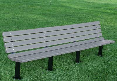 4', 6' and 8' Contour Recycled Plastic Bench - Surface and Inground Mount - Image 4