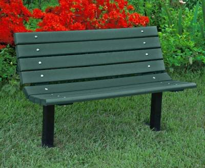 4', 6' and 8' Jameson Recycled Plastic Bench - Surface and Inground Mount - Image 5