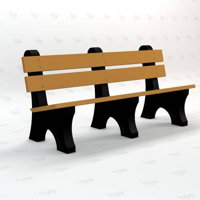 4', 6' and 8' Windsor Recycled Plastic Bench - Portable - Image 1