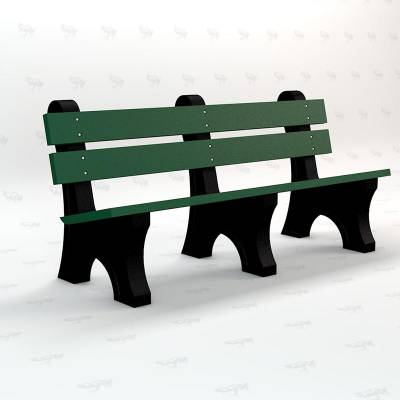4', 6' and 8' Windsor Recycled Plastic Bench - Portable - Image 2