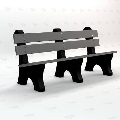 4', 6' and 8' Windsor Recycled Plastic Bench - Portable - Image 3