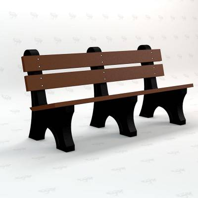 4', 6' and 8' Windsor Recycled Plastic Bench - Portable - Image 4